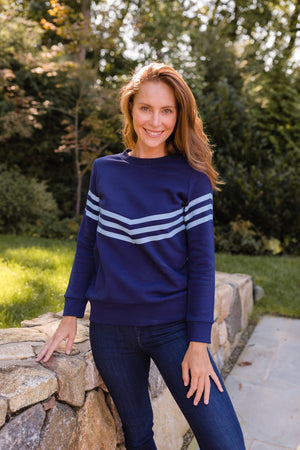 Inverted Stripe Sweatshirt