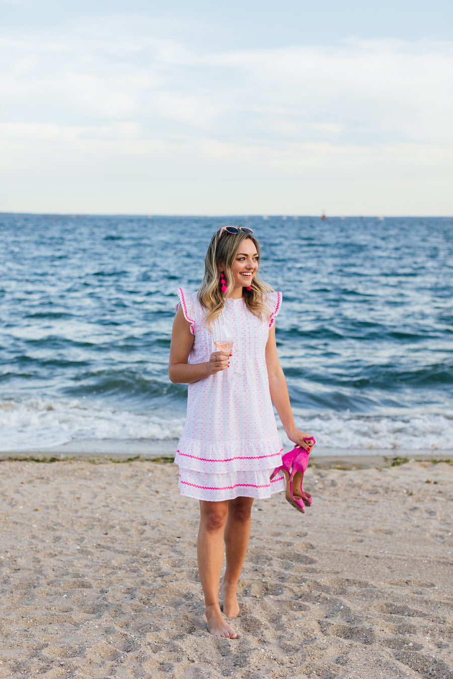 Funfetti Ruffle Sleeveless Dress