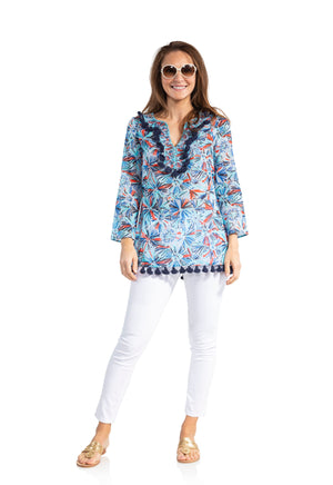 Cotton Tassel Tunic Top Firework
