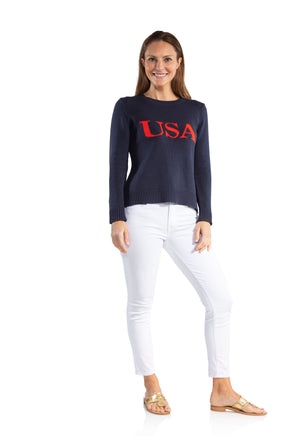 Intarsia Sweater USA