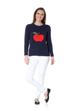 Intarsia Sweater Apple