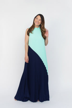 Emma Pleated Maxi Dress