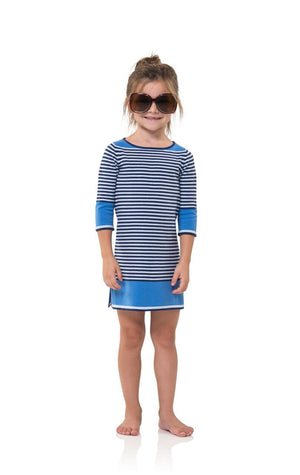 Kids Navy Striped Sweater Dress