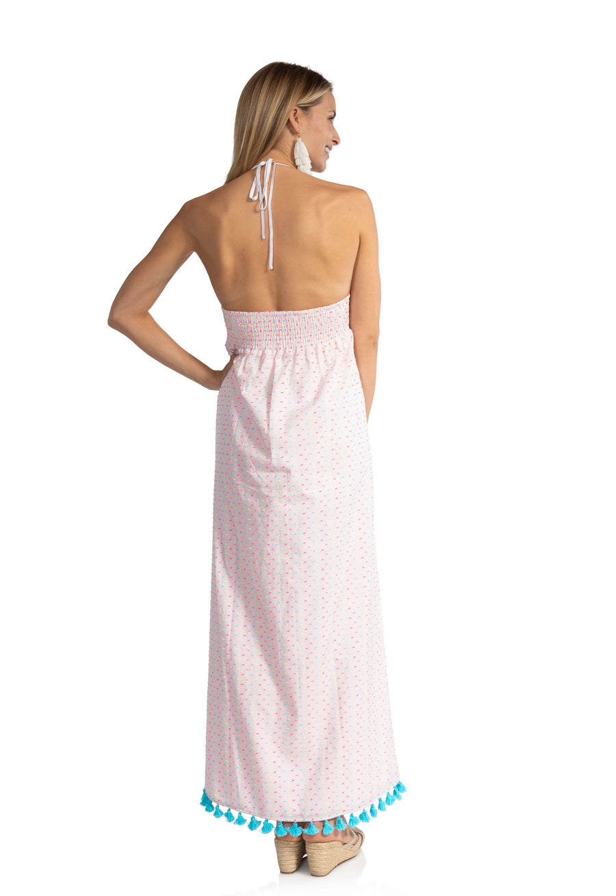 Funfilled Halter Maxi Dress