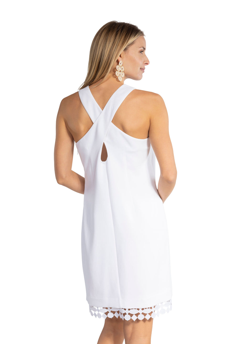 Poly Crepe Cross Back Dress