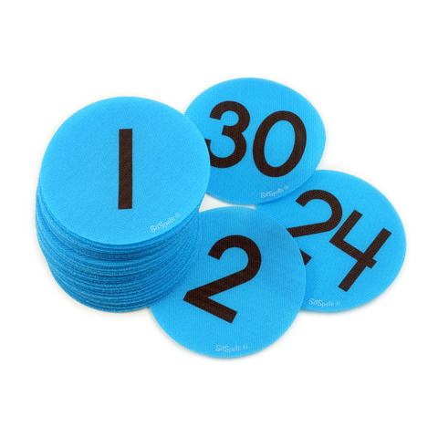 Numbers 1-30 Pack Bright Blue