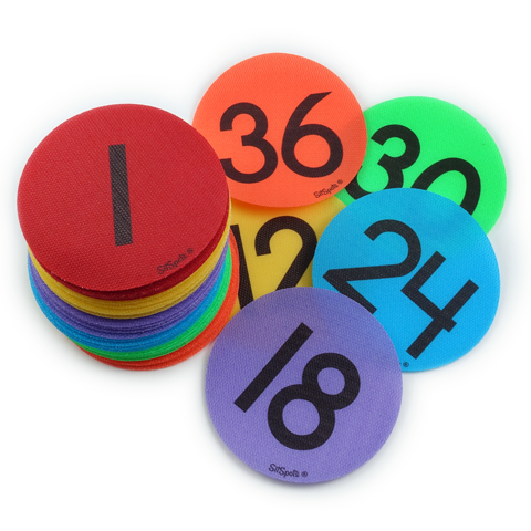 Numbers 1-36 Pack - Multi Colors
