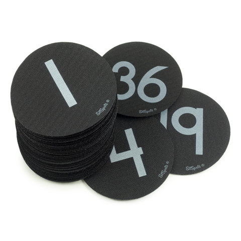Numbers 1-36 Pack - Black