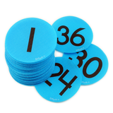 Numbers 1-36 Pack - Bright Blue