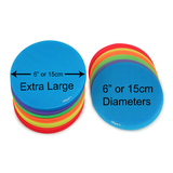 "EXTRA LARGE 30 Bright Color Circle Pack (6"" Diameter)"