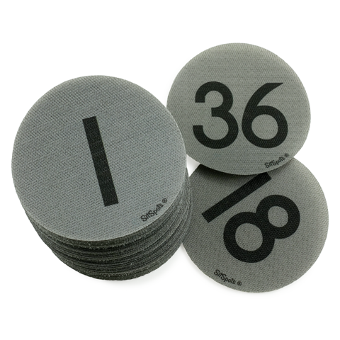 Numbers 1-36 Pack - Gray
