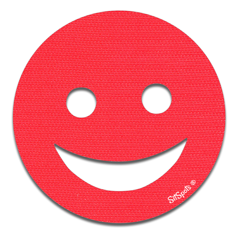 Happy Face - Bright Red