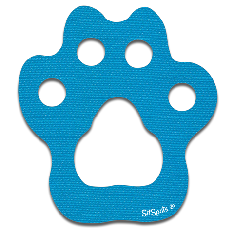 Paw Print - Bright Blue