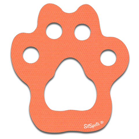 Paw Print - Bright Orange