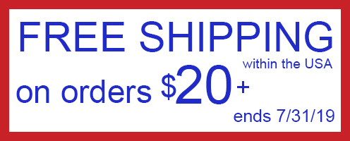 Free shipping for all US orders over $20!
