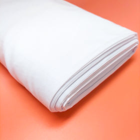 White, 100% Cotton Broadcloth (Tremode) Fabric - 45