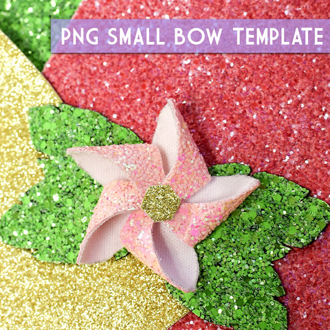 PNG - SMALL Bow Template #10 Digital File Download
