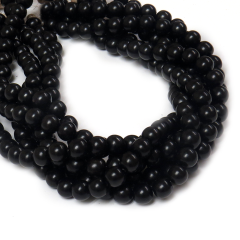 Black Ebony Wood, 10mm - 1 Strand