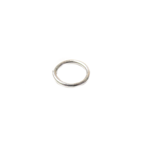 Jump Ring Open, Sterling Silver, 10mm; 1 piece