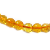 Citrine Smooth Round Bead, 10mm - 1 strand
