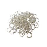 Jump Ring, Silver Plated Brass-10mm; 100pcs