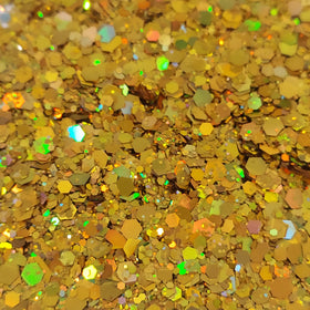 Bright Gold AB Mix, Chunky Glitter, 2oz