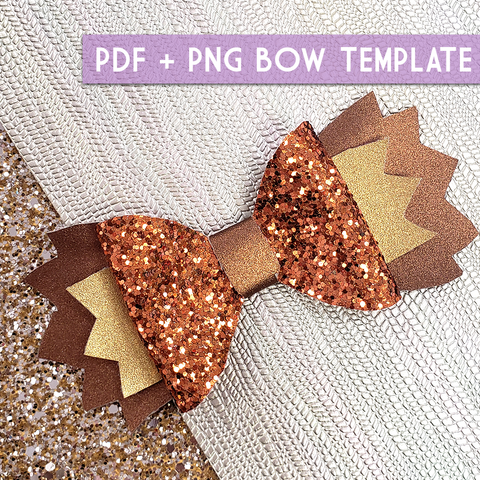 PNG - SMALL Bow Template #11 Digital File Download