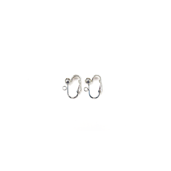 Ear Clip, Sterling Silver, 16mm; 1 pair