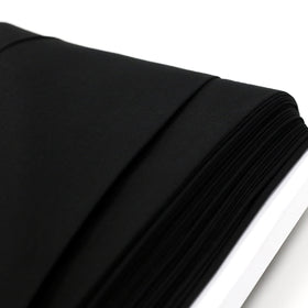 Black, Poly/Cotton Broadcloth (Tremode) Fabric - 45