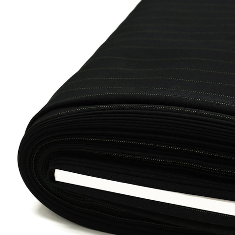 "Black, Office Super Suiting Fabric - 58"" Wide; 1 Yard"