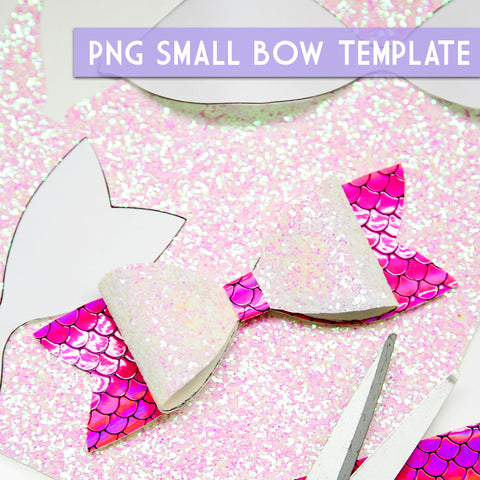 PNG - SMALL Bow Template #1 Digital File Download