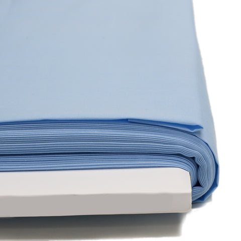 "Light Blue, Broadcloth Fabric - 58"" Wide; 1 Yard"