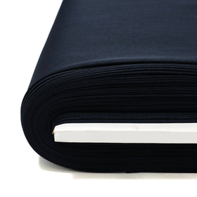Navy, 100% Textured Uniform Super Suiting Fabric - 58