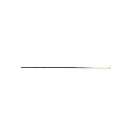 Head Pin, Sterling Silver, 2 inches; 1 piece
