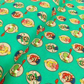Mario Brothers 100% Cotton Print Fabric, 44/45