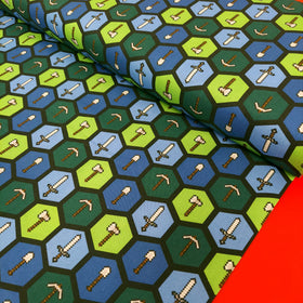 Minecraft Tools 100% Cotton Print Fabric, 44/45