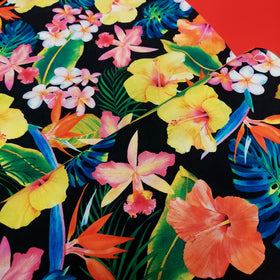 Tropical Plants 100% Cotton Print Fabric, 44/45