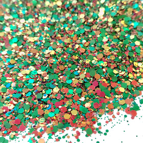 Bright Green Pink Mix - Chunky Glitter, 2oz
