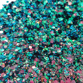 Teal Pink Mix - Chunky Glitter, 2oz