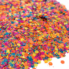 Multicolor Party Mix- Chunky Glitter, 2oz