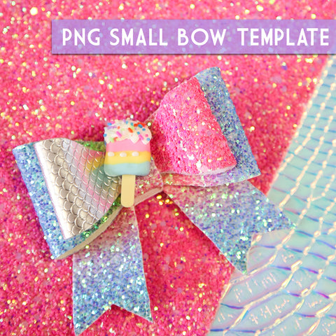 PNG - SMALL Bow Template #2 Digital File Download