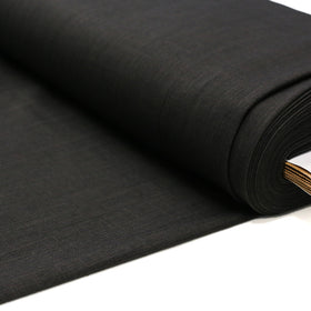Brownish Charcoal, 100% Textured Uniform Super Suiting Fabric - 58