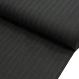 "Charcoal, Office Striped Suiting Fabric (#2554) - 58"" Wide; 1 yard"