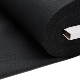 Charcoal, 100% Textured Uniform Super Suiting Fabric - 58
