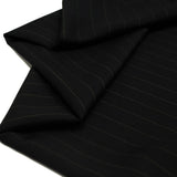 "Black, Office Striped Suiting Fabric (#2554) - 58"" Wide; 1 yard"