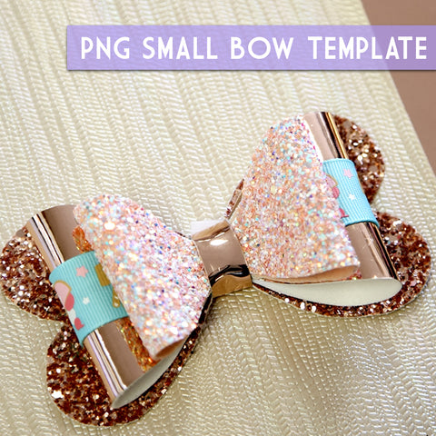 PNG - SMALL Bow Template #3 Digital File Download