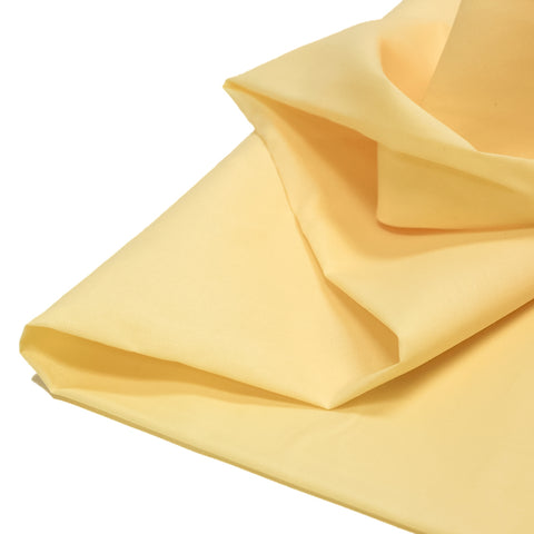 "Light Yellow, Broadcloth Fabric - 45"" Wide; 1 Yard"