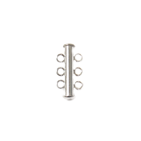 Three Strand Magnetic- Multi-strand Clasp, Sterling Silver, 21x10mm- 1 piece