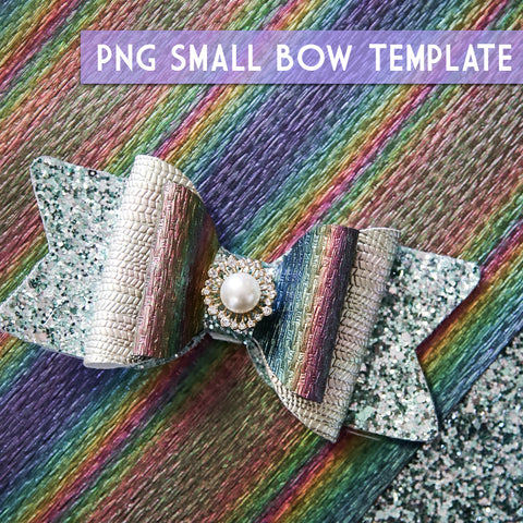 PNG - SMALL Bow Template #4 Digital File Download