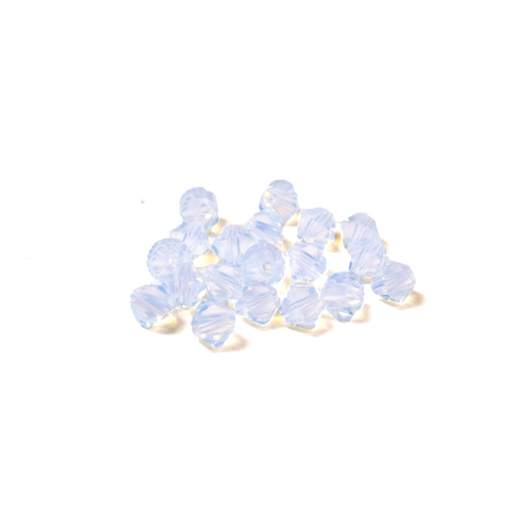 Swarovski Crystal, Bicone, 4mm - White Opal; 20 pcs